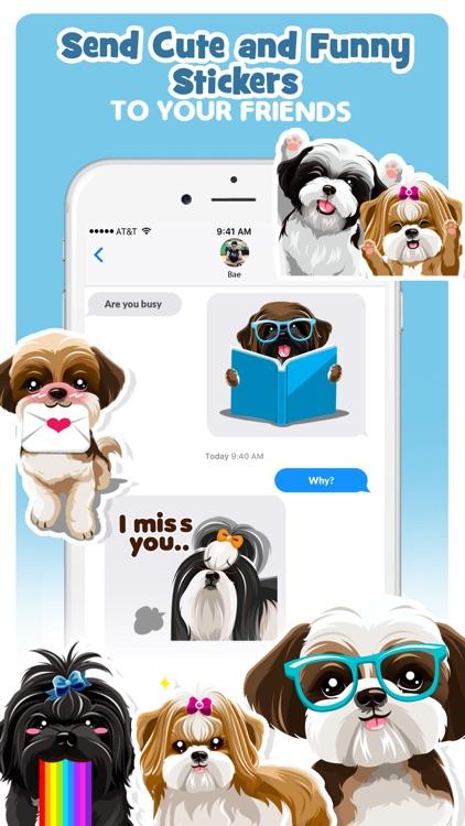 Shih Tzu Dog Emojis Stickers screenshot-3