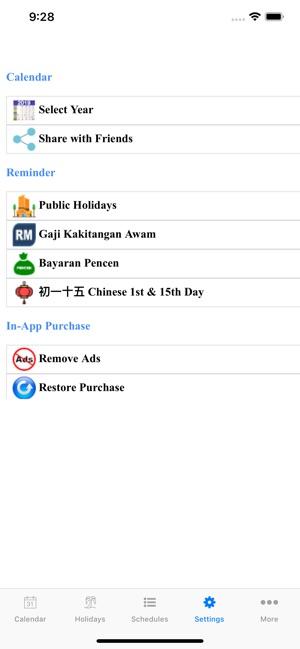 Malaysia Calendar 2019 /2020 on the App Store