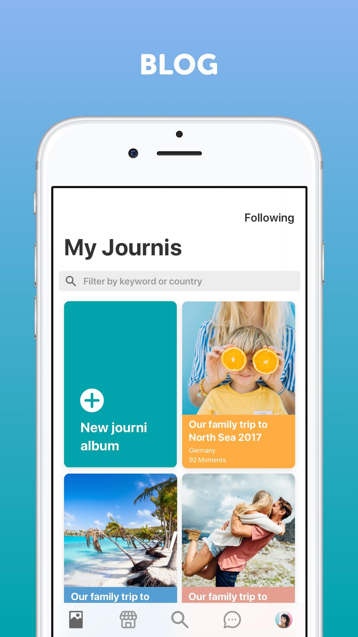 Travel Blog and Journal Screenshot