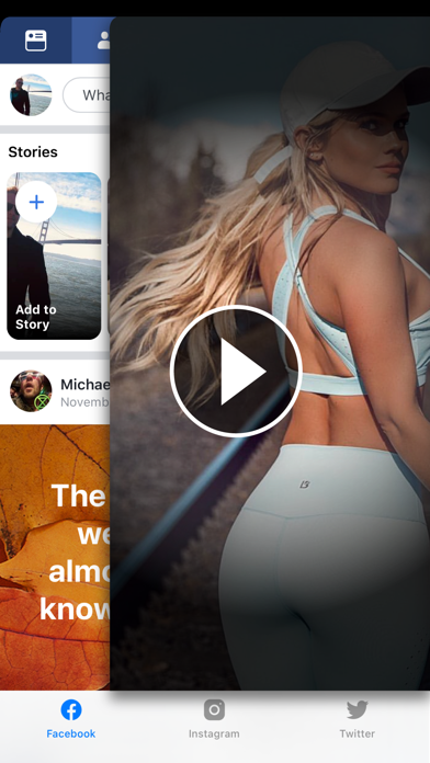 Screenshot #1 pour ◉MyPad+ Instagram Facebook app