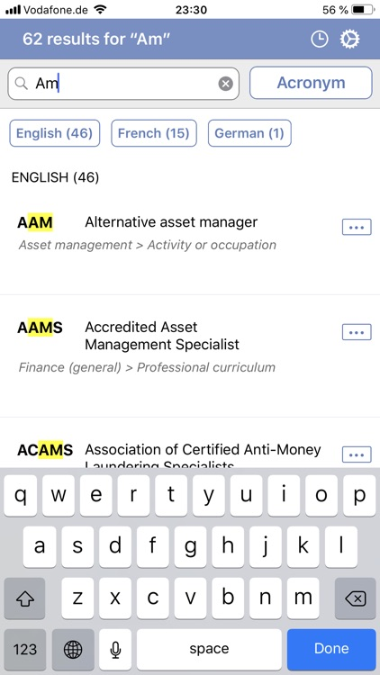 Financial acronyms