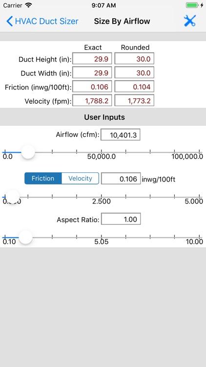 ASHRAE HVAC Duct Sizer screenshot-3