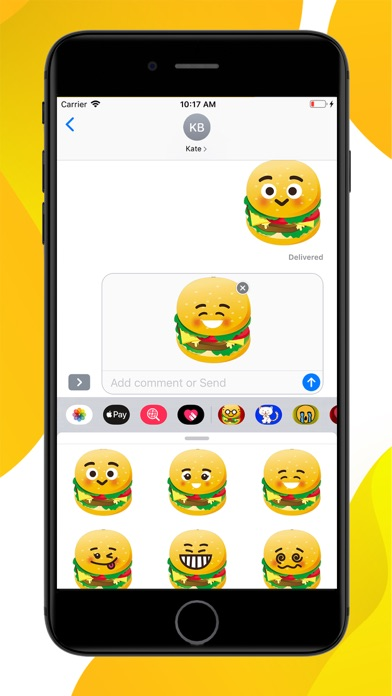 Burger Emoji Sticker screenshot 2