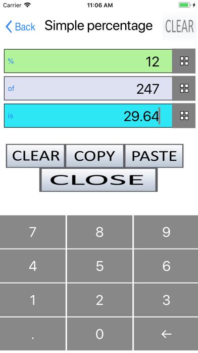 Percent, Percentage Calculator screenshot 3