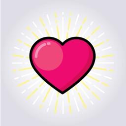 Pink Valentine Love Sticker