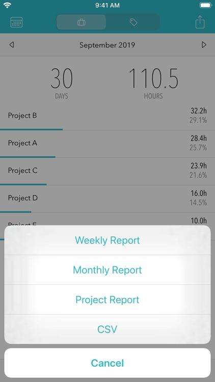 Timesheet - Time Tracker screenshot-4