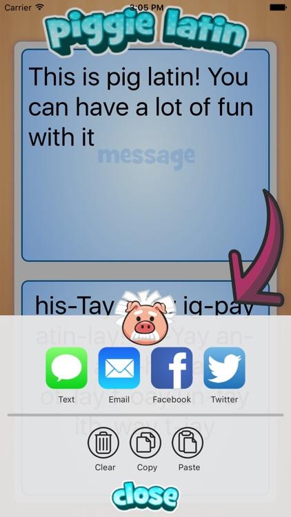 Piggie Latin screenshot-3