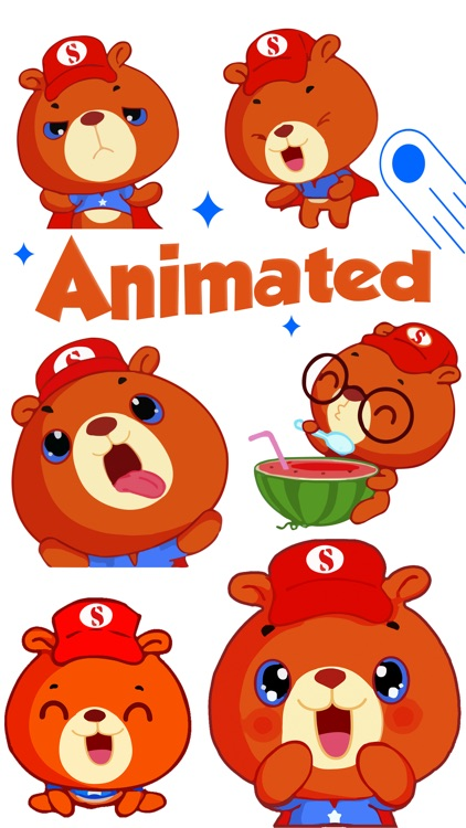 Super Bear: Animated Stickers