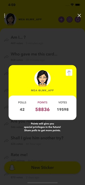 LMK: Anonymous Polls on the App Store