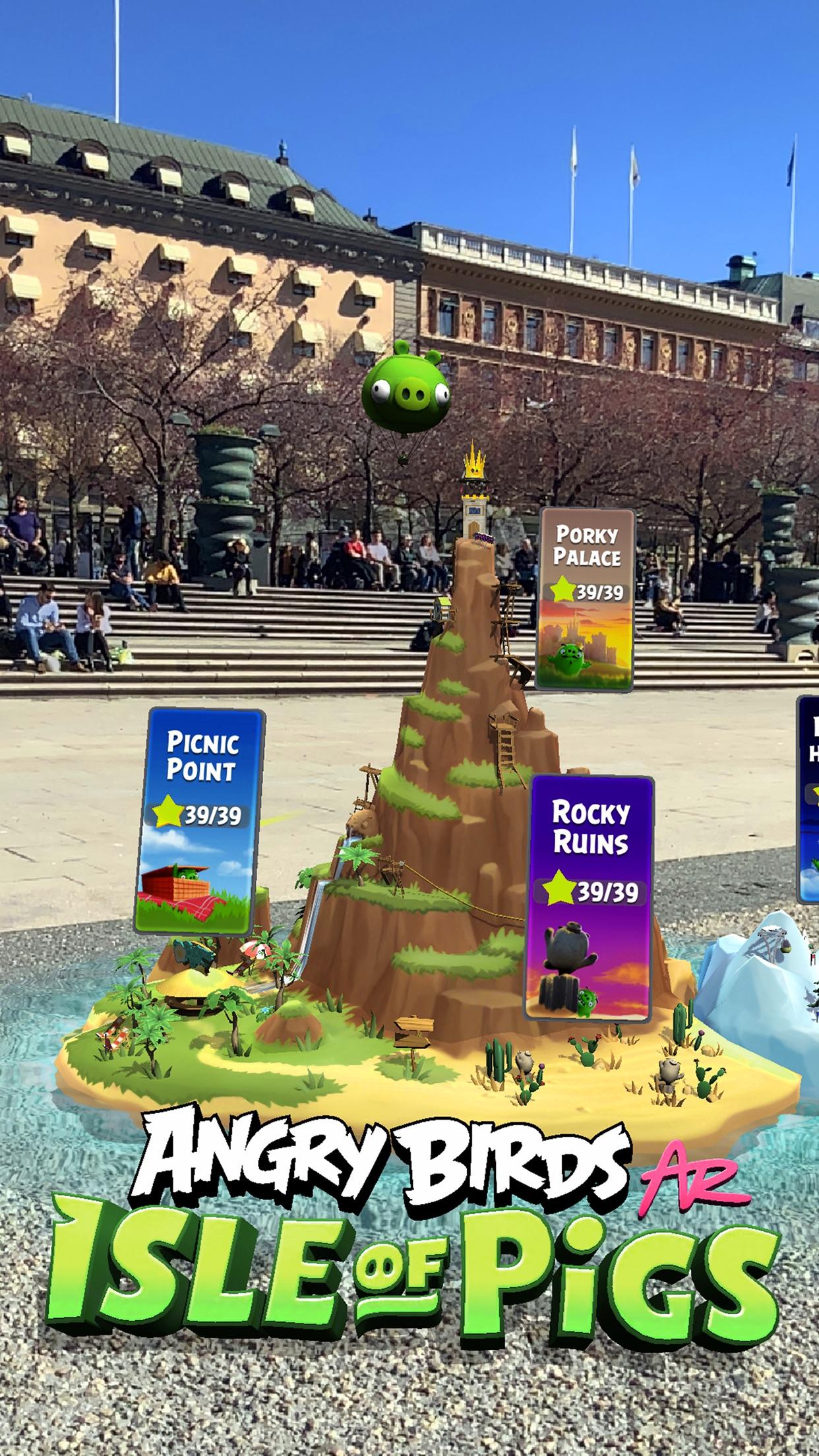 Angry Birds AR: Isle of Pigs Screenshot
