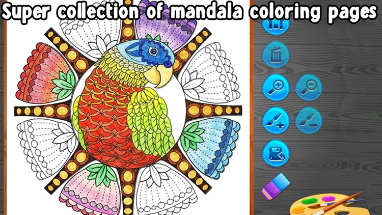 Birds Mandala Coloring - Relax screenshot-3