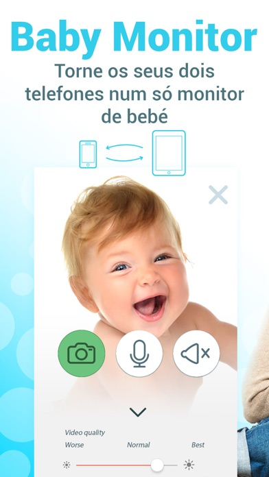 Screenshot for Baby monitor 3g - Bebê cam in Portugal App Store