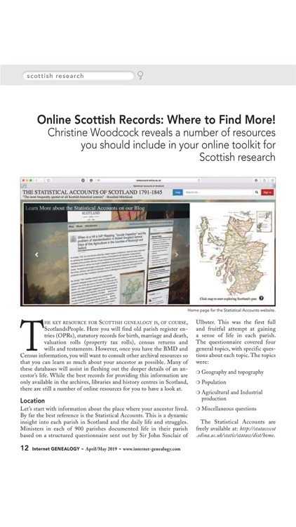 Internet Genealogy Magazine screenshot-1