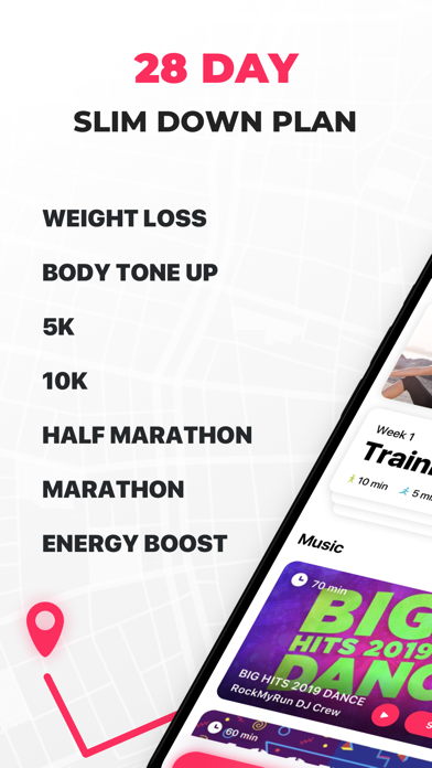 Running for Weight Loss: interval training plan, GPS, how-to-lose-weight tips by Red Rock Apps screenshot