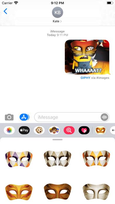 Masquerade Mask Stickers screenshot 1