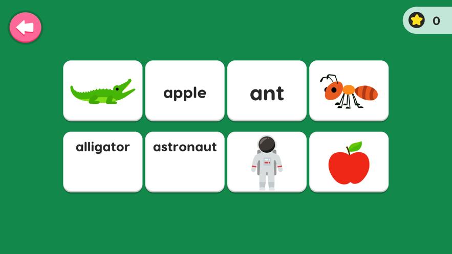 儿童英语单词-基础互动学习游戏 App 截图