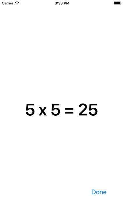 Multiplication Times Tables I