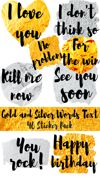 Gold and Silver Words screenshot one