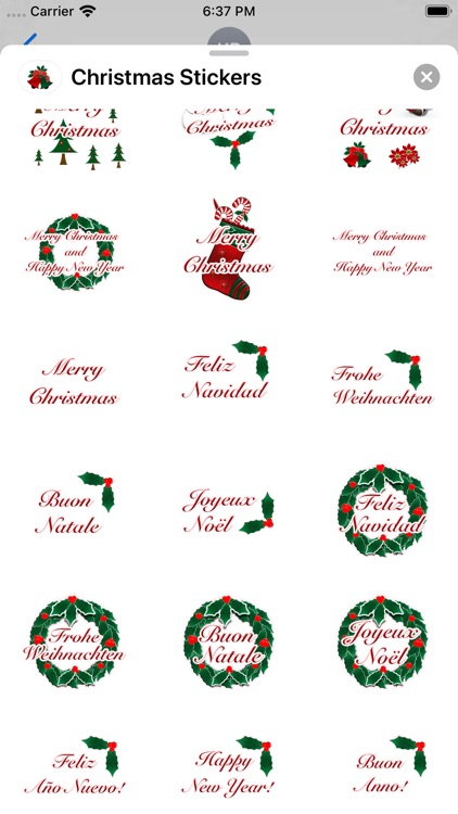 Happy Christmas Stickers screenshot-2