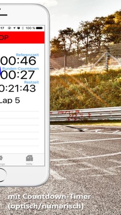 GLP-Timer - Countdown-Laptimer Screenshots