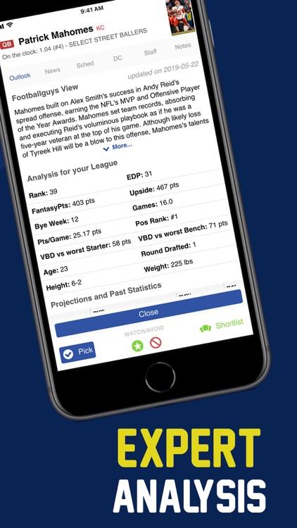 Fantasy Football Draft FBG screenshot-4