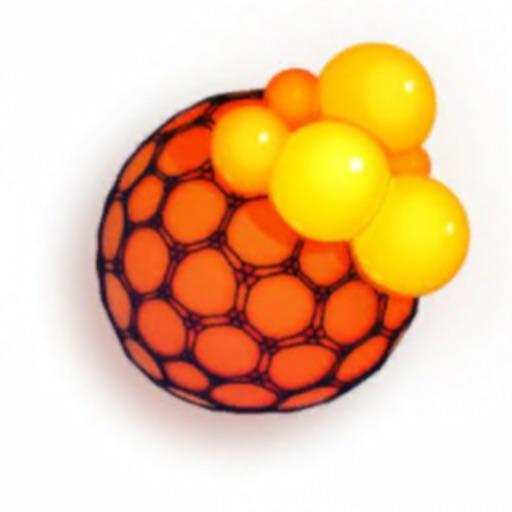 Мяч антистресс: слаймы лизуны