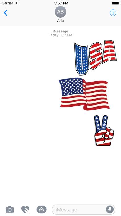 I Love The American Flag Icon screenshot 1
