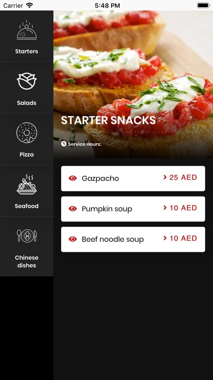 adaa digital menu screenshot-1