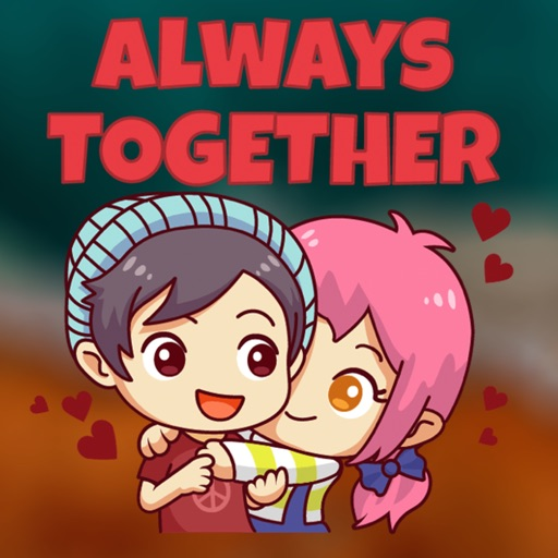 Adorable Chibi Couple Stickers