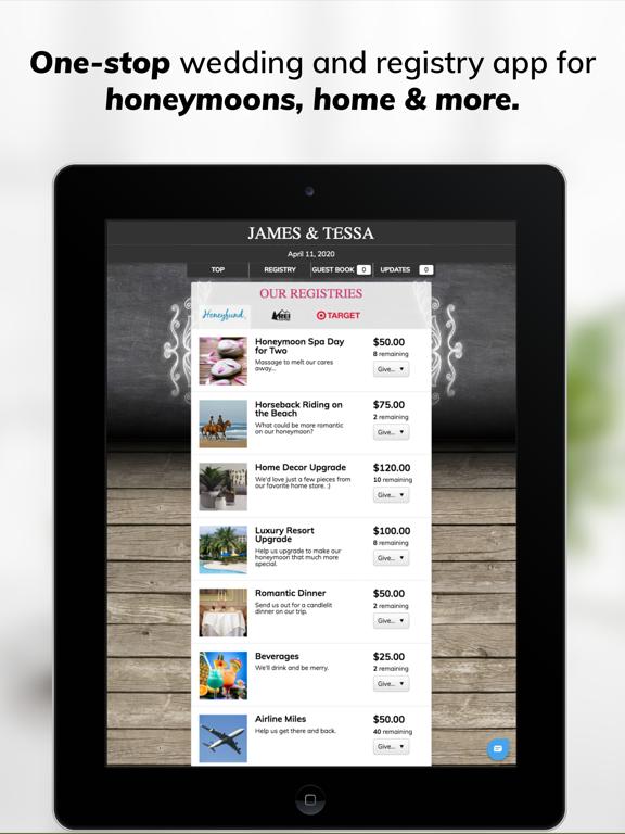 Honeyfund Wedding Registry - #1 Honeymoon Registry screenshot