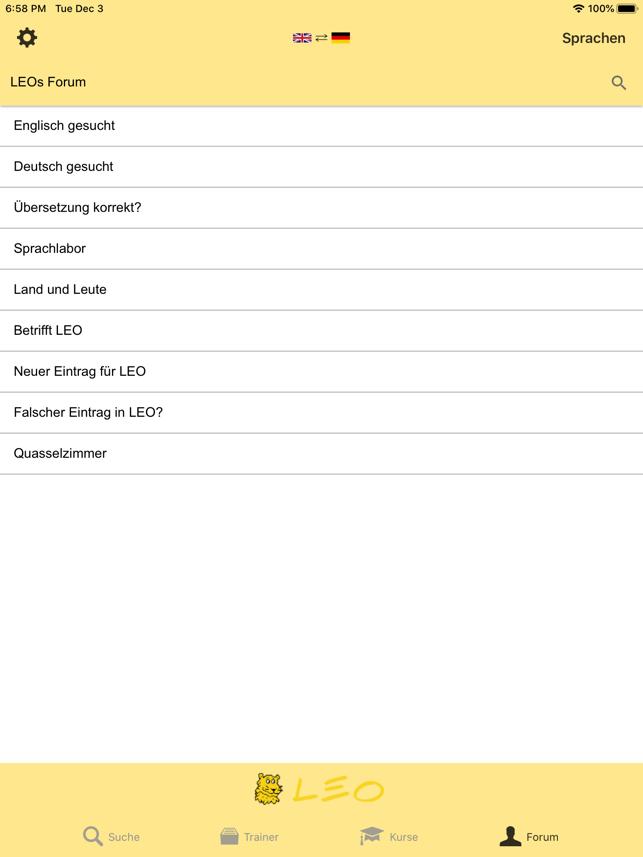 LEO Wörterbuch Screenshot