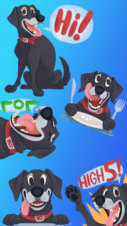 Mr. Cooper Black Dog Stickers screenshot-9