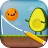Where's My Avocado? Draw lines - iPadアプリ