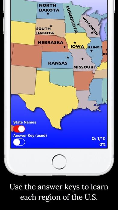 United States Map Quiz screenshot one