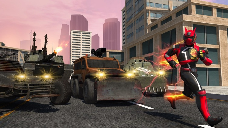 Police Robot War Hero Car Game screenshot-3