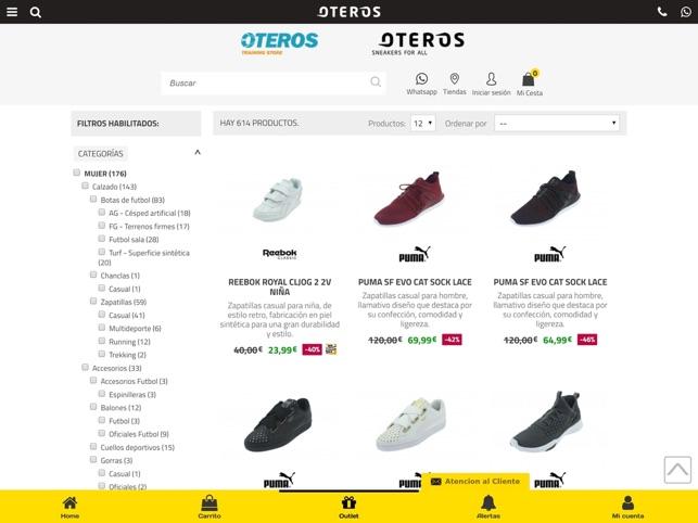 Oteros Zapatillas online en App Store