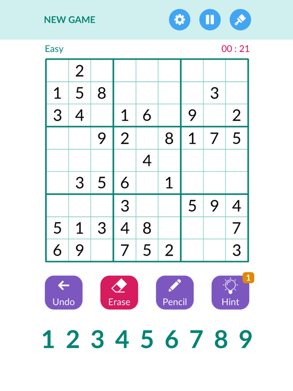 Sudoku1000 -Number puzzle game screenshot 4
