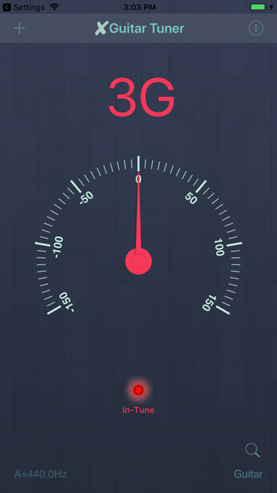 X Guitar Tuner Pro screenshot one