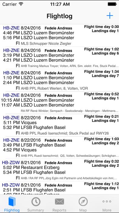 ROTAIR FlightLog screenshot one