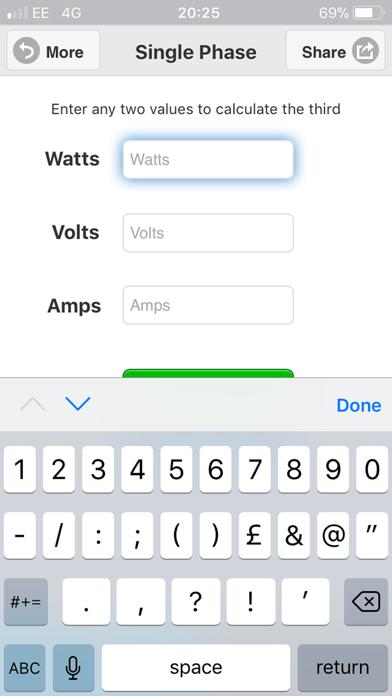 Watts Amps Volts  Calculator-1
