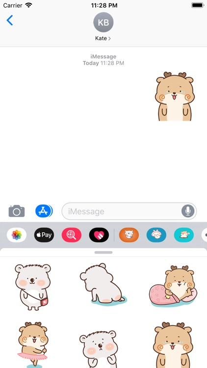Deer And Bear Gif Stickers