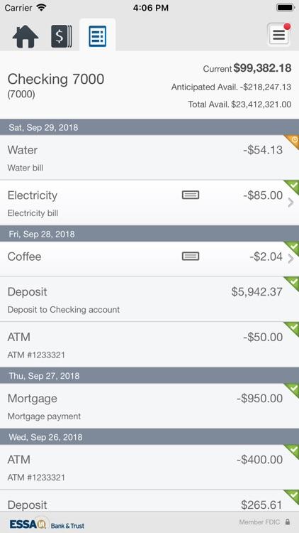 ESSA Business Mobile Banking screenshot-4