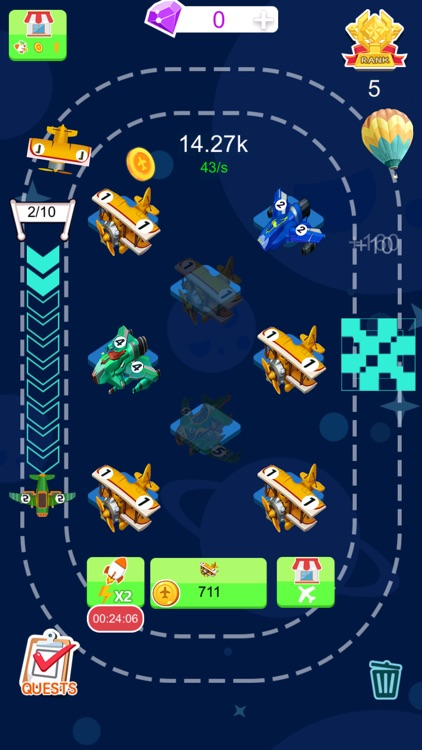 Tiny Plane - 2048 Coins Tycoon screenshot-0