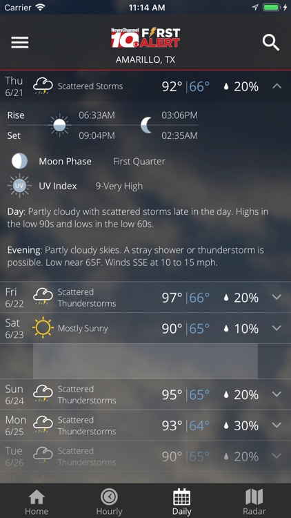 KFDA - NewsChannel 10 Weather screenshot-4