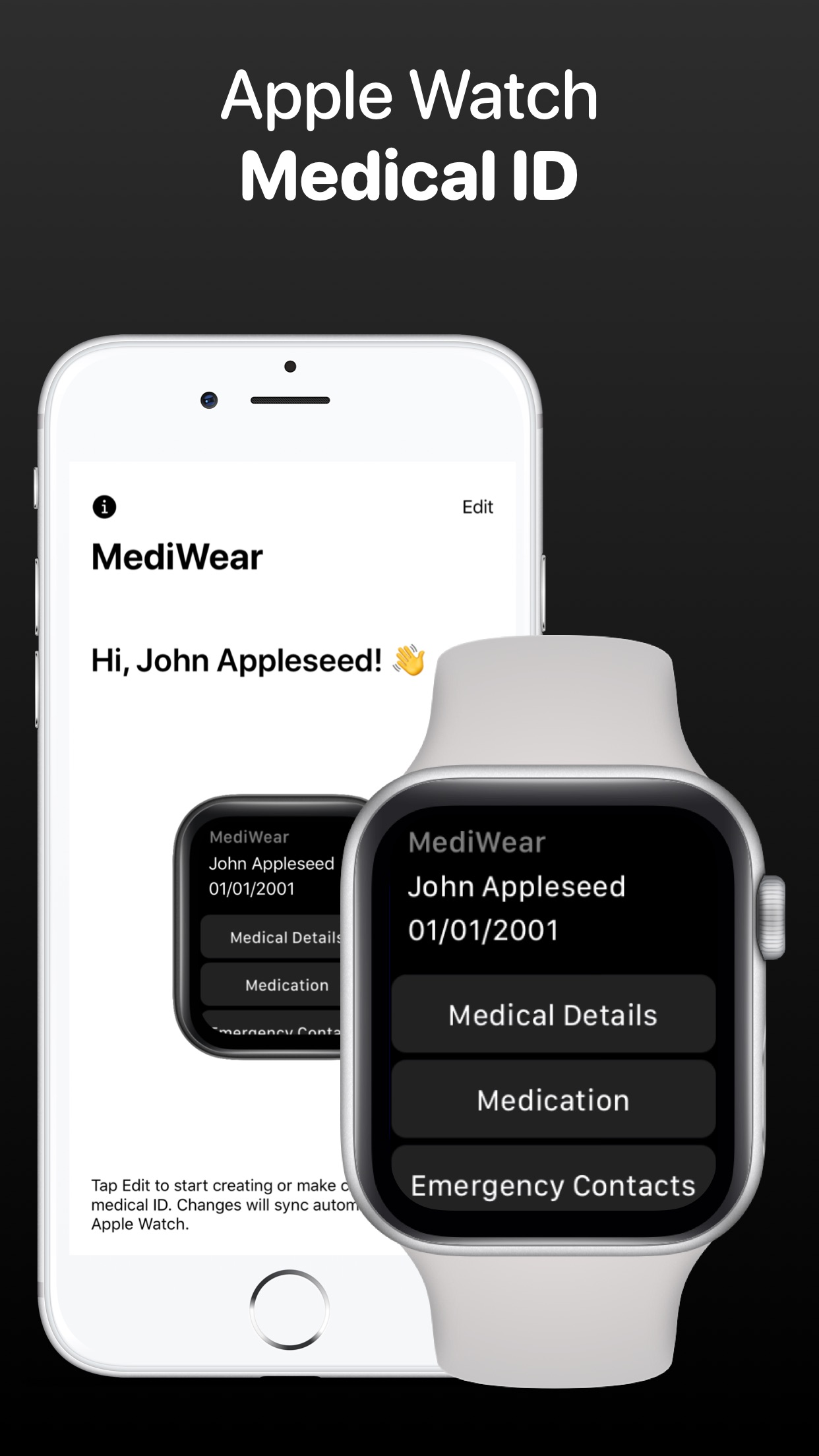 MediWear: Medical ID for Watch Screenshot