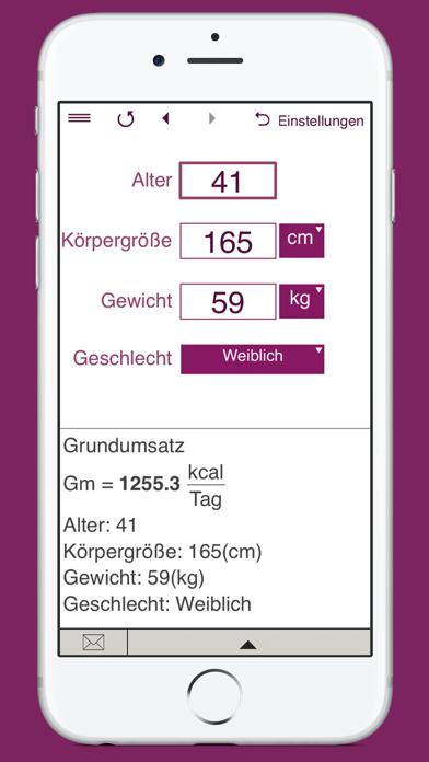 KalorienbedarfsrechnerScreenshot von 4