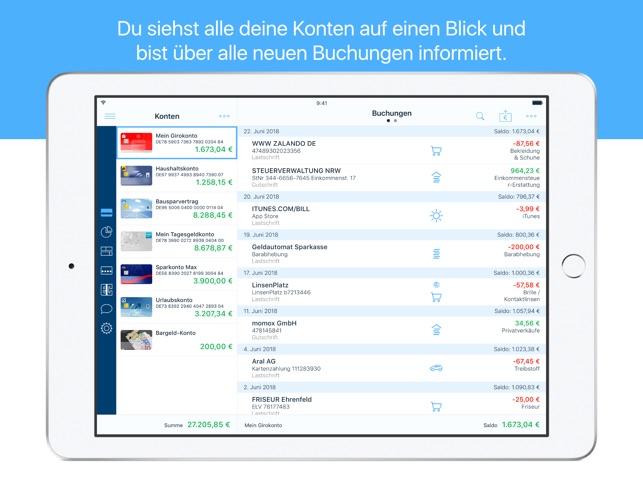finanzblick Online-Banking Screenshot
