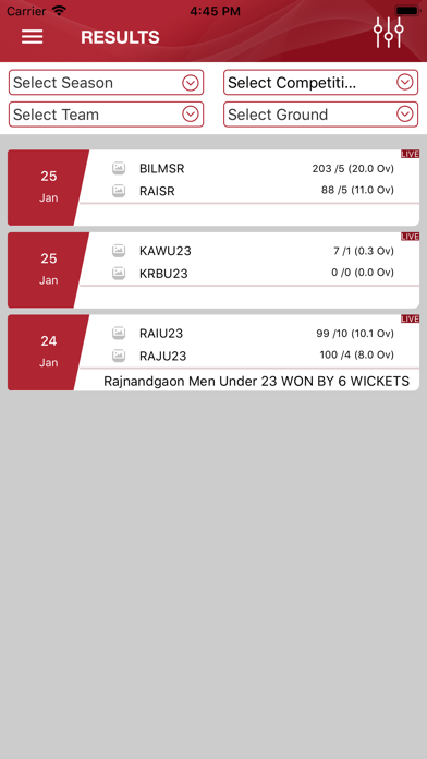 Cricket CSCS Screenshot