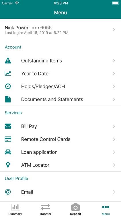 Foothills CU Mobile Banking screenshot-4