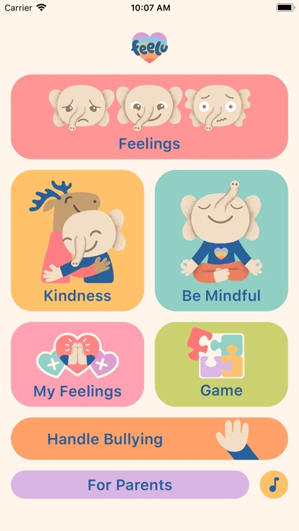 Feelu –Mindful, Relax For Kids screenshot-0